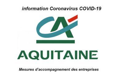 Mesures d'accompagnement du Crédit Agricole Aquitaine